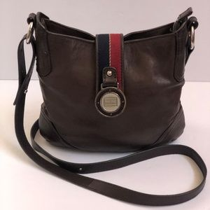 Tommy Hilfiger Womens Crossbody Leather Brown